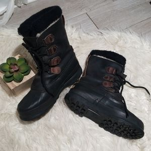 Sorel Alpine leather winter boots size 8